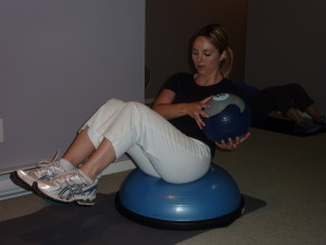 med bal twist on Bosu