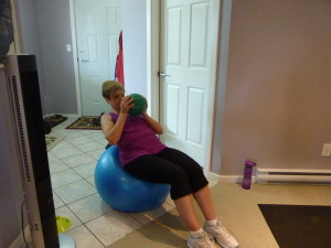 Crunches on Stability Ball